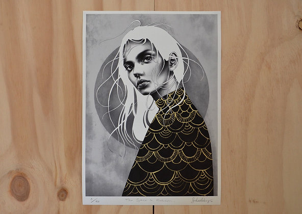Giclée Print: The Space In Between (A3, hand embellished)