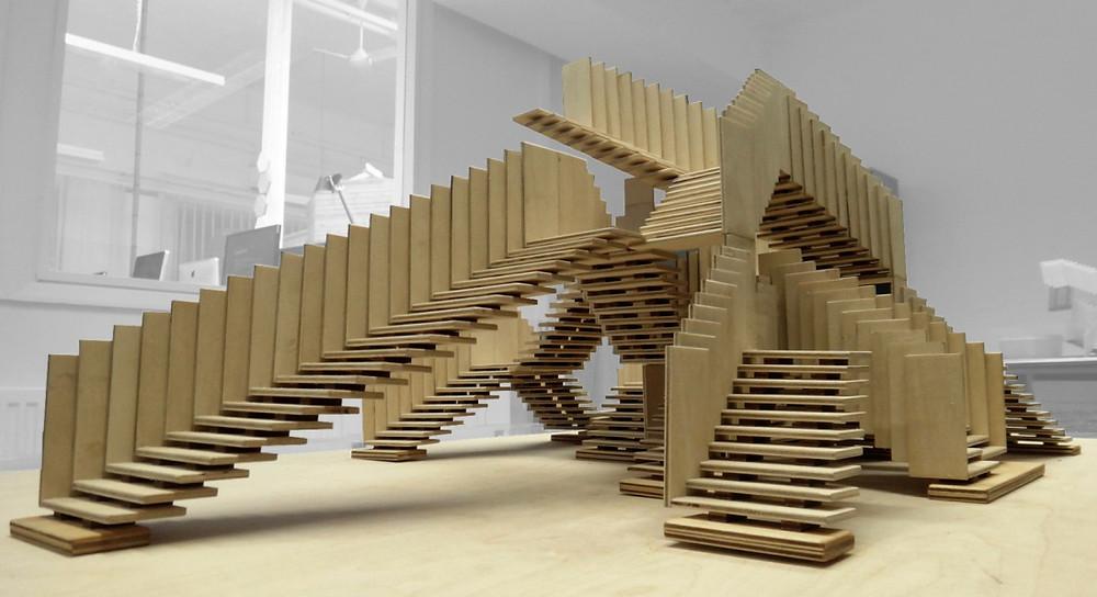 scala strana legno architettura