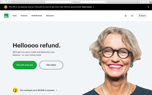 H&R Block Website Reframe