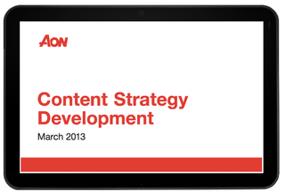 Aon eSolutions Content Strategy