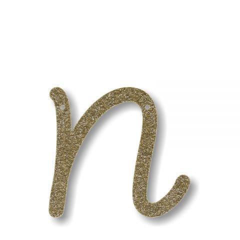 "Bunting in acrilico glitter oro ""N"""