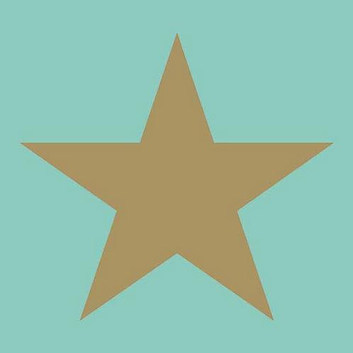Tovagliolo Star Gold/Aqua