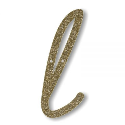 """Bunting in acrilico glitter oro """"L"""""""