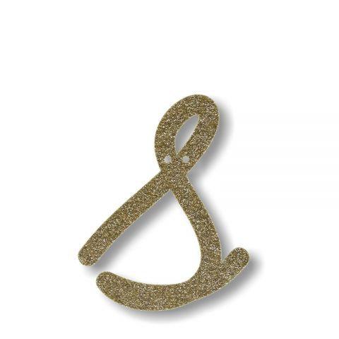 """Bunting in acrilico glitter oro """"S"""""""