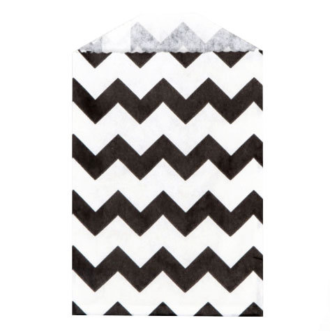 Little Bitty Bags Chevron Black