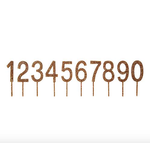 Cake Topper Numeri Oro
