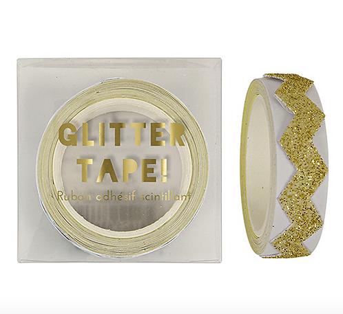 Glitter Chevron Tape Oro