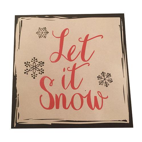 Biglietto di Auguri Natale Let it Snow