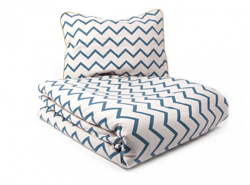 Set Lettino Vancouver Zigzag Blue