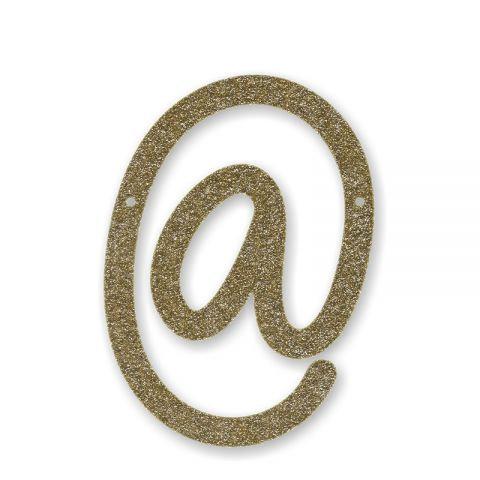 """Bunting in acrilico glitter oro """"@"""""""