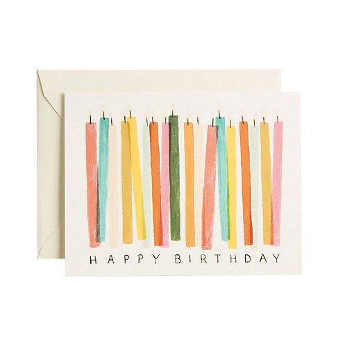 Biglietto di Auguri Happy Birthday Candeline