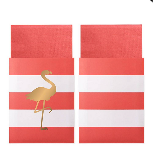 Napkin in Bags Preppy Flamingo