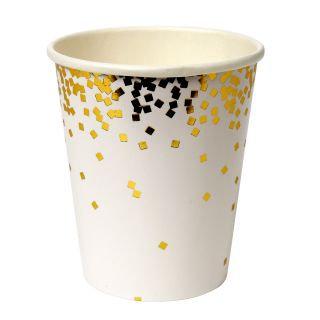 Bicchieri Confetti Gold