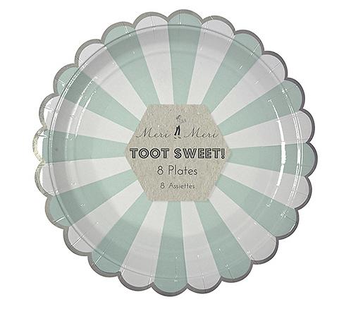 Piatti Piccoli Toot Sweet Aqua Stripe