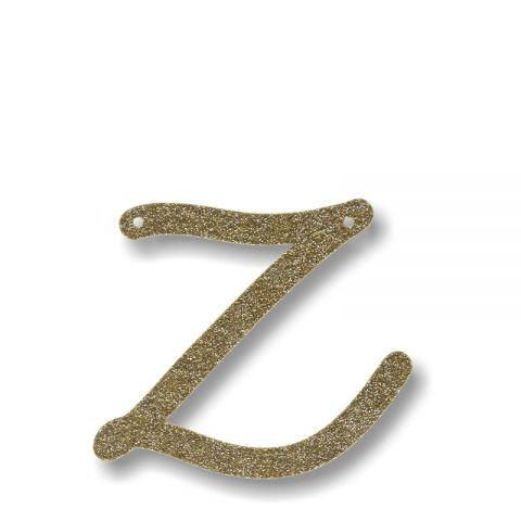 """Bunting in acrilico glitter oro """"Z"""""""