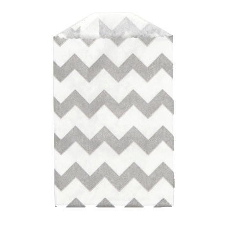 Little Bitty Bags Chevron Grey