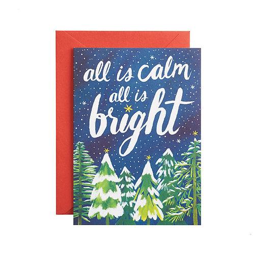 Biglietto di Auguri Natale All is Calm