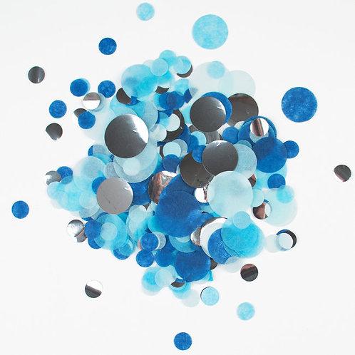 Confetti Table Blu e Argento