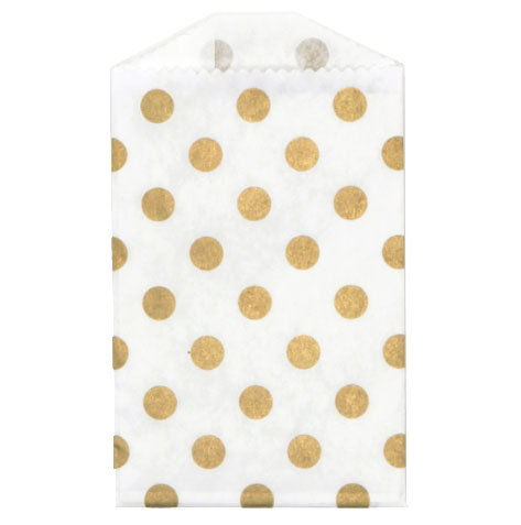 Little Bitty Bags Polka Dot Gold