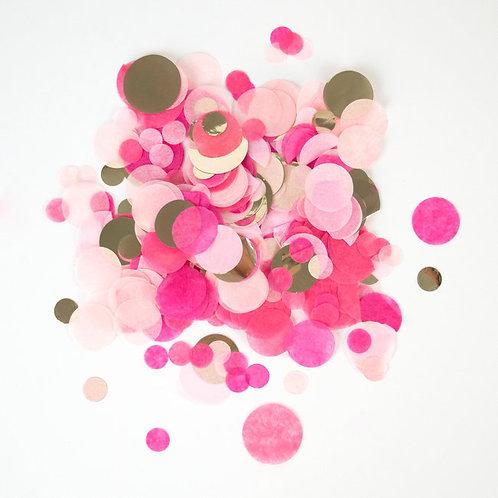 Confetti Table Rosa e Oro