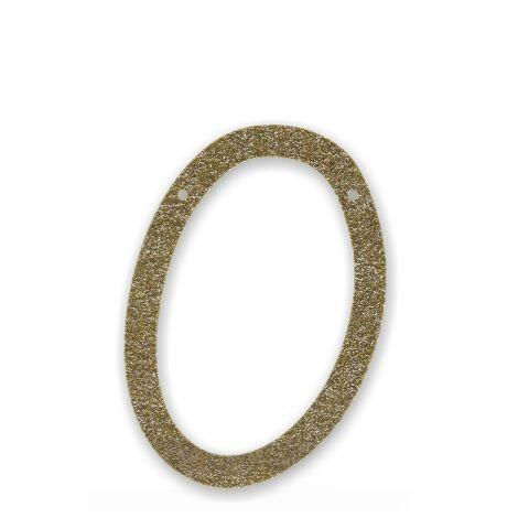 """Bunting in acrilico glitter oro """"0"""""""
