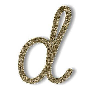 """Bunting in acrilico glitter oro """"D"""""""