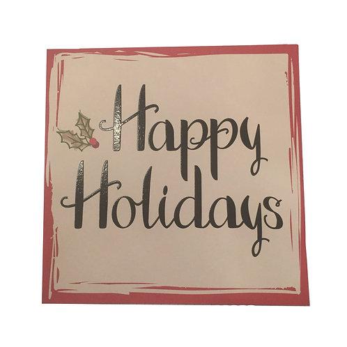 Biglietto di Auguri Natale Happy Holidays