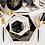 Thumbnail: Piatto Noir Esagonale Large