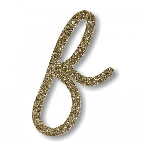 """Bunting in acrilico glitter oro """"F"""""""