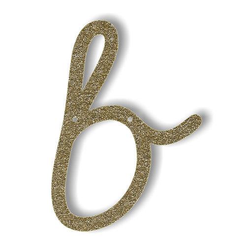 """Bunting in acrilico glitter oro """"B"""""""