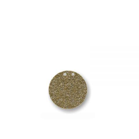 """Bunting in acrilico glitter oro """"PALLINO"""""""