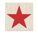 Tovagliolo Star Red/Linen