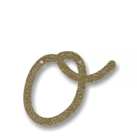 """Bunting in acrilico glitter oro """"O"""""""