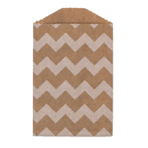 Little Bitty Bags Chevron Kraft