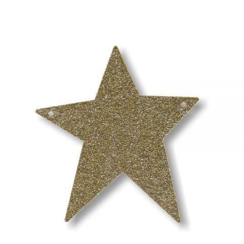"""Bunting in acrilico glitter oro """"STELLA"""""""