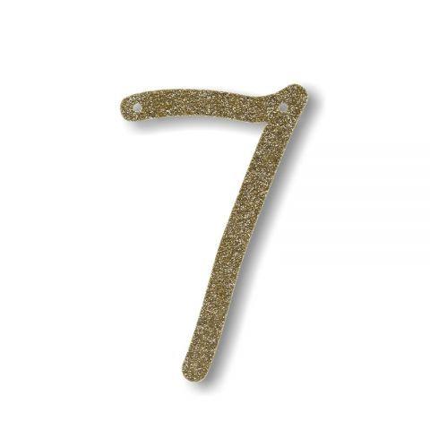"""Bunting in acrilico glitter oro """"7"""""""