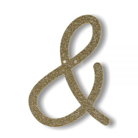 """Bunting in acrilico glitter oro """"&"""""""