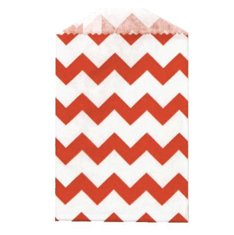 Little Bitty Bags Chevron Red