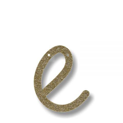 """Bunting in acrilico glitter oro """"E"""""""