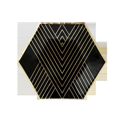 Piatto Noir Esagonale Medium