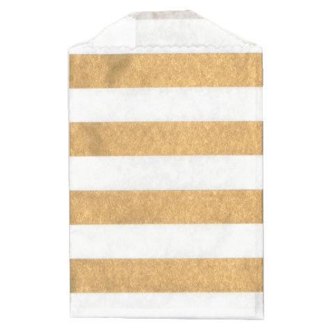Little Bitty Bags Stripe Gold