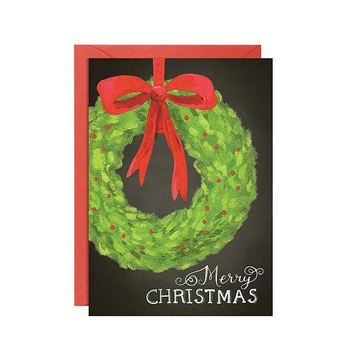 Biglietto di Auguri Natale Ghirlanda