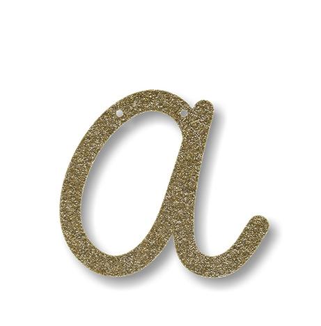 """Bunting in acrilico glitter oro """"A"""""""