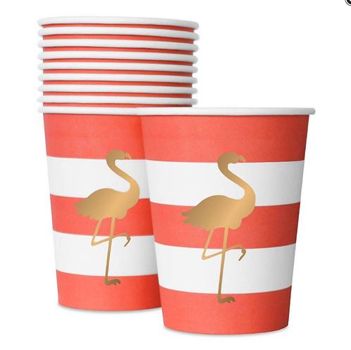 Bicchieri Preppy Flamingo