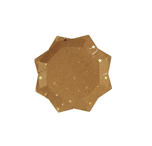 Piatti Gold Stars Kraft Small