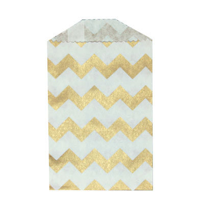 Little Bitty Bags Chevron Oro