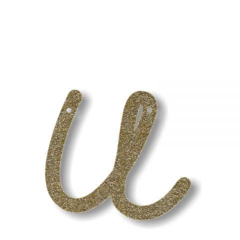 """Bunting in acrilico glitter oro """"U"""""""