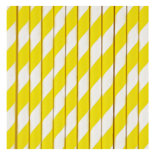 Cannucce in carta Yellow