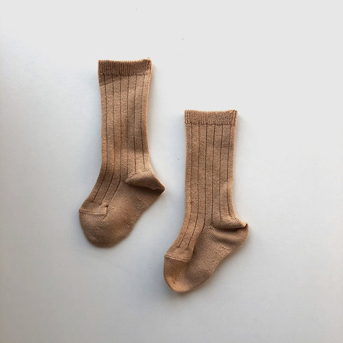 Condor ribbed knee sock - camel