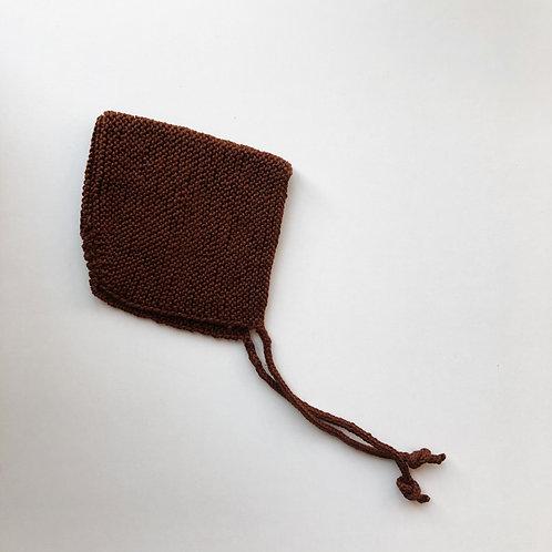 Knitted Bonnet - Ginger